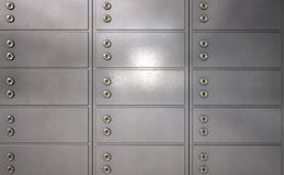 Safety Deposit Boxes Royalty Free Stock Photography