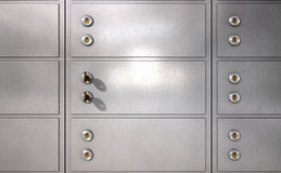 Safety Deposit Boxes Royalty Free Stock Images