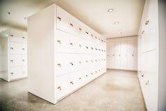 Safety deposit boxes. New safety deposit boxes - photo stock image