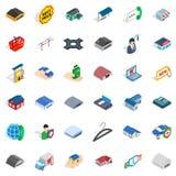 Safety deposit icons set, isometric style Royalty Free Stock Images