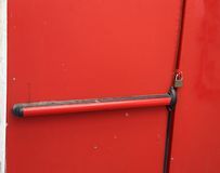 Safety door closed with padlock Stock Photography