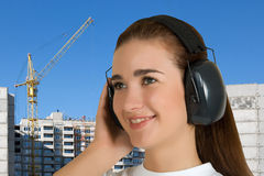 Safety earphone Stock Images