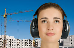 Safety earphone Stock Photography