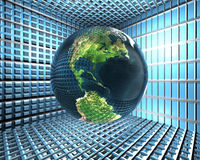 Safety earth in room with lattices Royalty Free Stock Photography