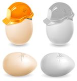 Safety eggs Stock Photos