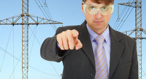 Safety engineer in electrical networks Royalty Free Stock Photography