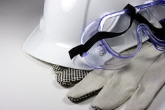 Safety equipment. On white background Stock Photo