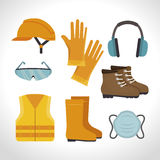Safety equipment design. Illustration eps10 graphic stock illustration