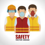 Safety equipment design. Illustration eps10 graphic royalty free illustration