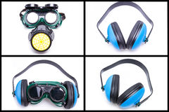 Safety equipment and gear set Royalty Free Stock Photos