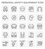 Safety equipment icon. Safety equipment and tool icon set Royalty Free Stock Image