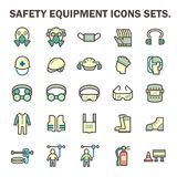 Safety equipment icons Royalty Free Stock Photography