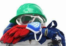 Safety equipment kit Royalty Free Stock Photos