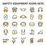 Safety equipment icons Royalty Free Stock Image