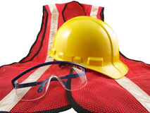 Safety Equipment on White Stock Images