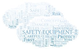 Safety Equipment word cloud. Word cloud made with text only vector illustration