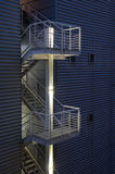 Safety exit emergency metal modern stair Royalty Free Stock Photo
