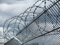 Safety fence detail Royalty Free Stock Images