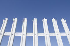 Safety fence of galvanized steel with tips Stock Image