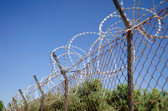 Safety fence. Royalty Free Stock Images