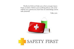 Safety First. This  is safty first Royalty Free Stock Photo