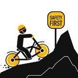 Safety first abstract poster. On this picture you can see some business safety at life poster. You can use this picture for all your needs Royalty Free Stock Photo