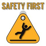 Safety first abstract poster. On this picture you can see some business safety at life poster. You can use this picture for all your needs Stock Photography