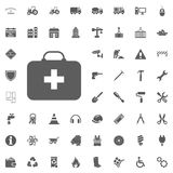 Safety first aid kit icon. Construction and Tools vector icons set.  Stock Photo