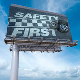 Safety first billboard Royalty Free Stock Photos