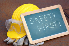 Safety first concept Stock Photos