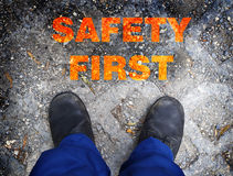 Safety first concept Stock Images