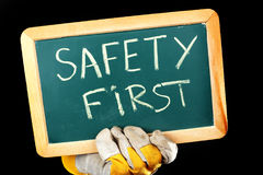 SAFETY FIRST concept Royalty Free Stock Photography