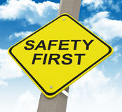 Safety first Royalty Free Stock Photos