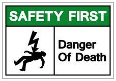 Safety First Of Death Symbols Sign, Vector Illustration,  On White Background Label. EPS10 royalty free illustration