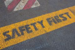 Safety first ground Stock Image