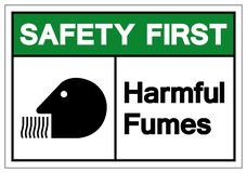 Safety First Harmful Fumes Symbol Sign, Vector Illustration, Isolate On White Background Label. EPS10 royalty free illustration