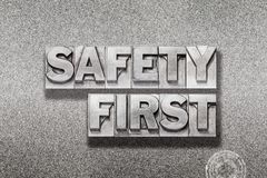 Safety first on metallic Stock Photos
