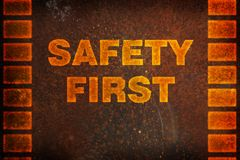 Safety first background Stock Photos