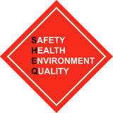 Safety First - SHE&Q sign - vector Stock Photos