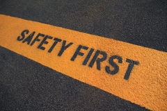 Free Safety First Sign Royalty Free Stock Photo - 25096795
