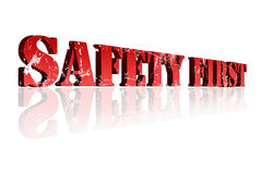 Safety First Sign Royalty Free Stock Photography