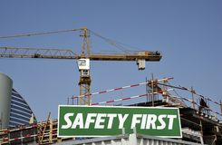 Safety First Warning Sign Royalty Free Stock Photography