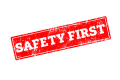 SAFETY FIRST written on red rubber stamp royalty free stock image