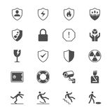 Safety flat icons Royalty Free Stock Photos
