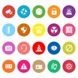 Safety flat icons on white background Royalty Free Stock Image