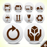 Safety fragile service icon button set Stock Photo