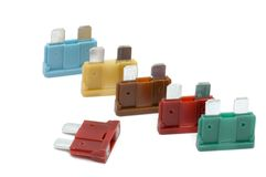 Safety fuse. Series object on white: safety fuse Royalty Free Stock Photo