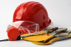 Safety gear royalty free stock photos