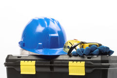 Safety gear kit. Close up Stock Photography