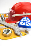 Safety gear kit Royalty Free Stock Photos